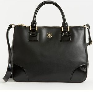 Tory Burch Robinson Double-Zip Tote-Black